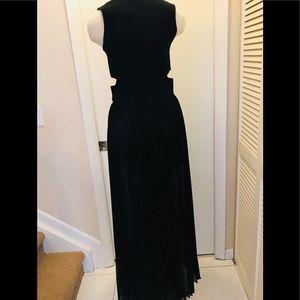 Endless Rose Black Knit Sexy Sleeveless Long Dress